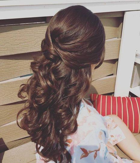 Curly half pin