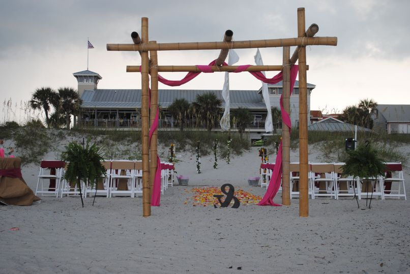 Ceremony with Sliders in the background