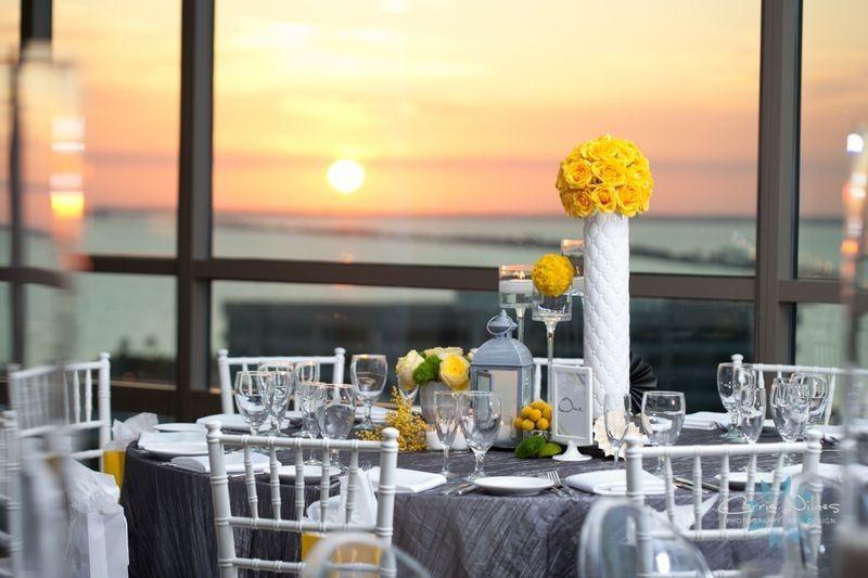 BluVu Wedding at sunset
