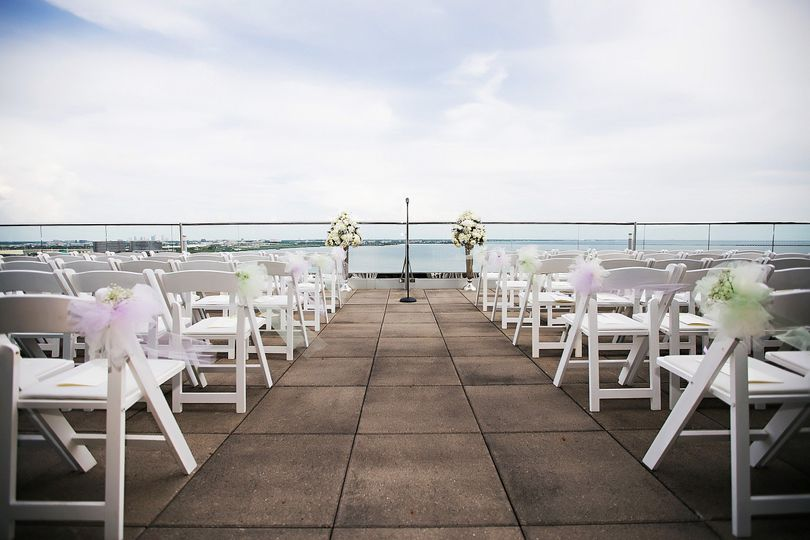 BluVu terrace ceremony