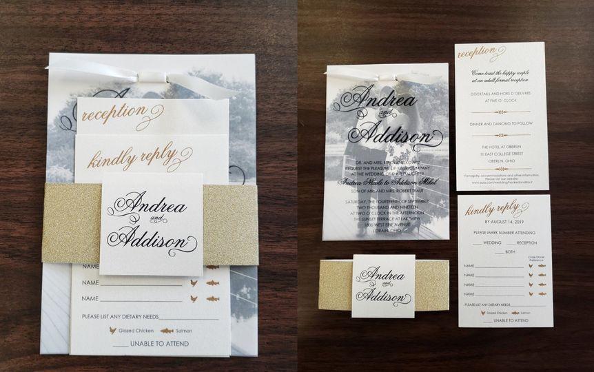 Parchment Layover Invitation