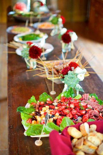 Fresh fruit salad section
