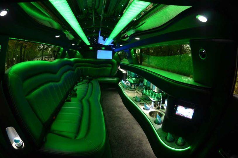 Uplighting inside the limo