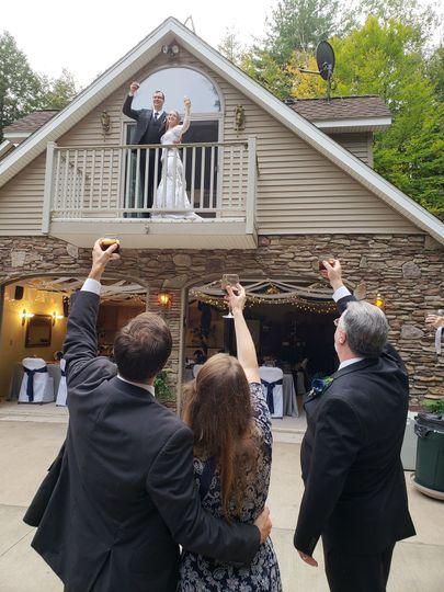 Newlyweds on the Balcony
