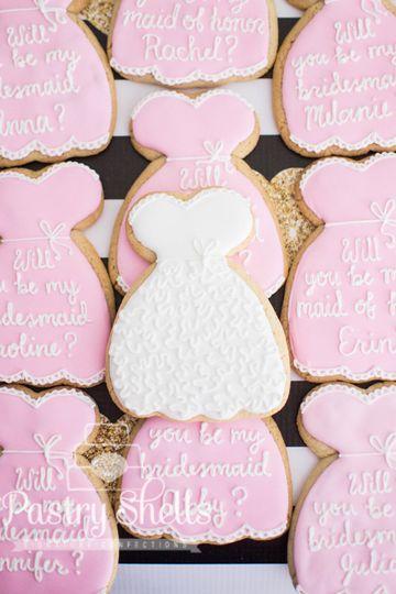 Custom cookies - Bridesmaids