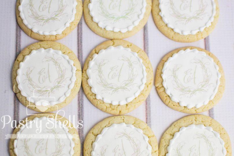 Custom cookies - Monogrammed