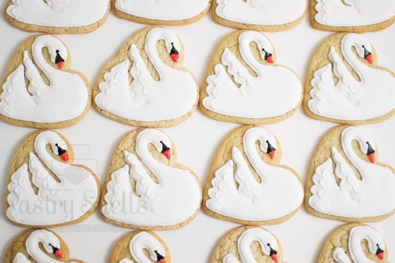Custom cookies - Swans