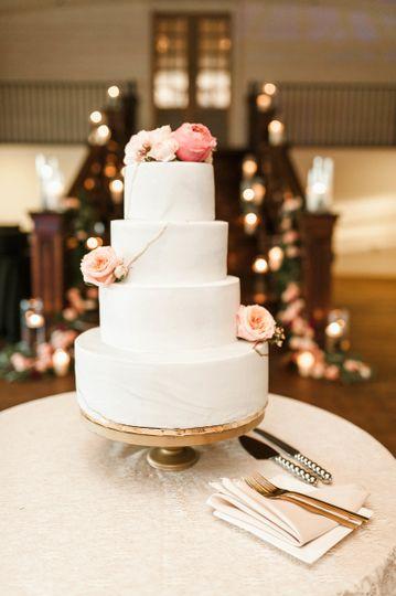 Marbled pastel 4-tier cake