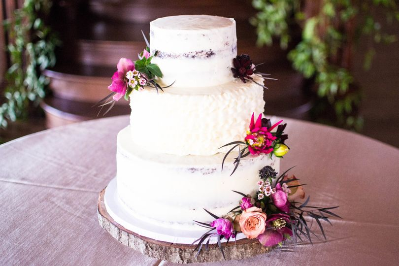3-layer custom naked cake