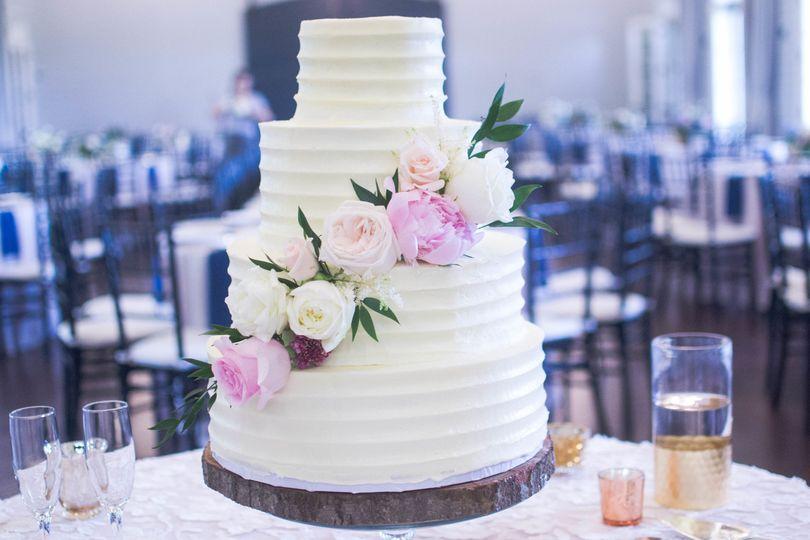 Pink & white 4-layer cake