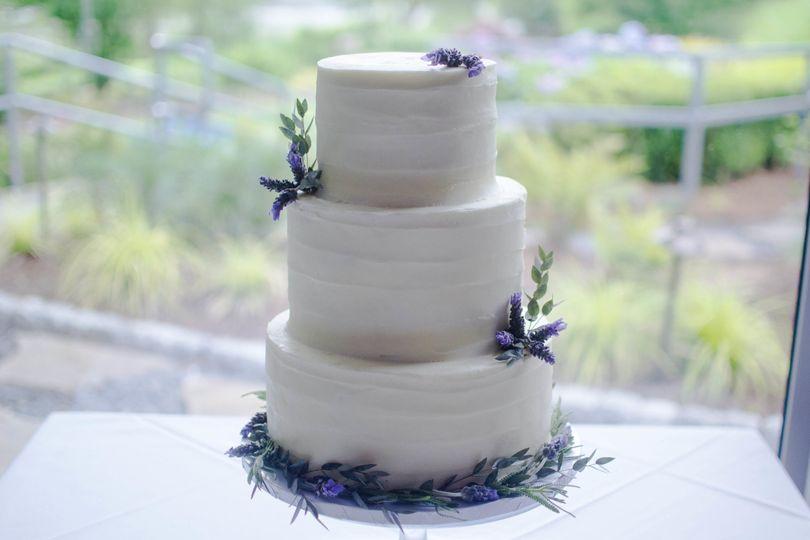 3-layer lavender flower cake