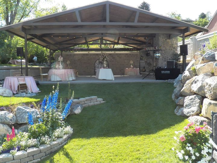 Backyard pavilion, wedding sound system - Orem, Utah