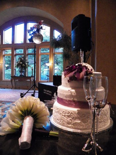 Wedding reception sound and music with cake and toast - Heritage Gardens, Sandy, Utah