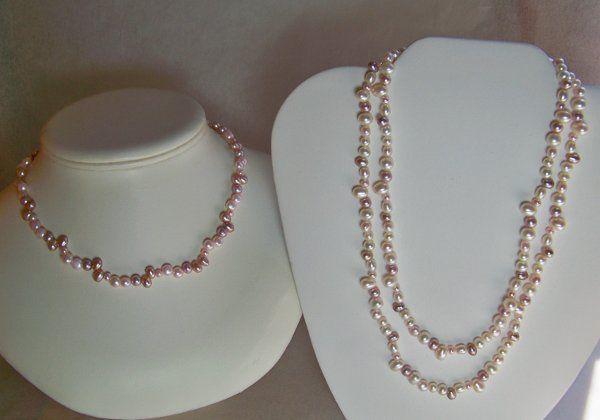 Tmx 1272293260835 Pinkwhitenecklaces Buffalo wedding jewelry