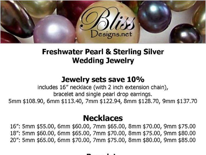 Tmx 1343486262059 RETAILPRICESHEETBRIDALPEARLS Buffalo wedding jewelry