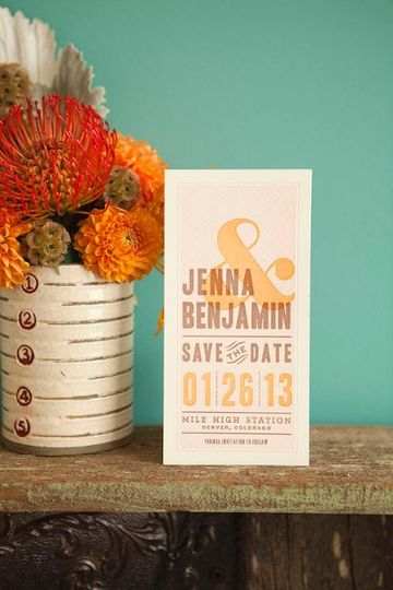 Auburn Save the Date, Letterpress