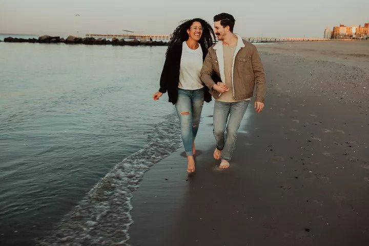 A romantic stroll