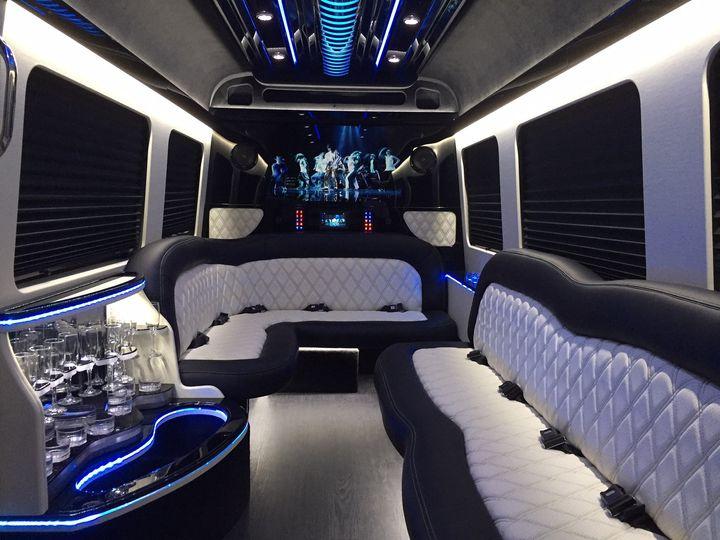 Interior seats and beverage area