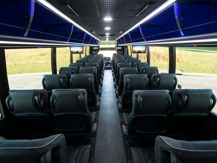 Tmx 44 Mini Coach Bus Rear Interior 51 709542 158101845421982 Chester, Pennsylvania wedding transportation