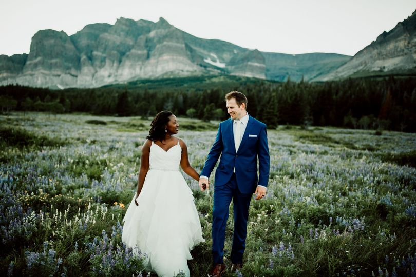 Destination Wedding, Many Glacier Montana
