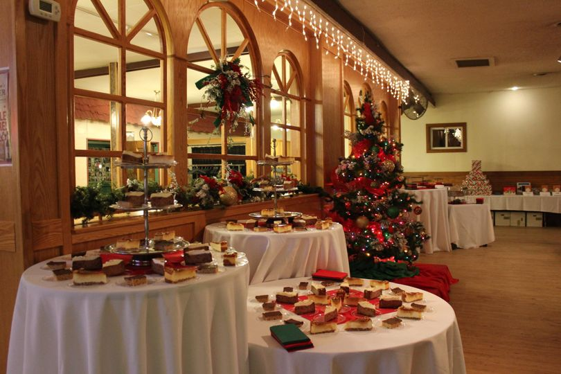 Dessert bar for corporate Christmas party.
