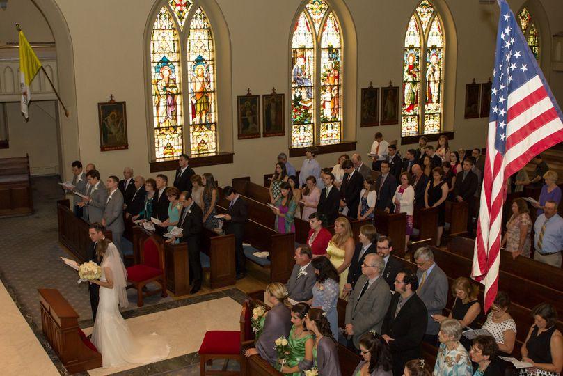 St Mary's Catholic Church, Alexandria, Virginia Wedding by Gilroy Photography.