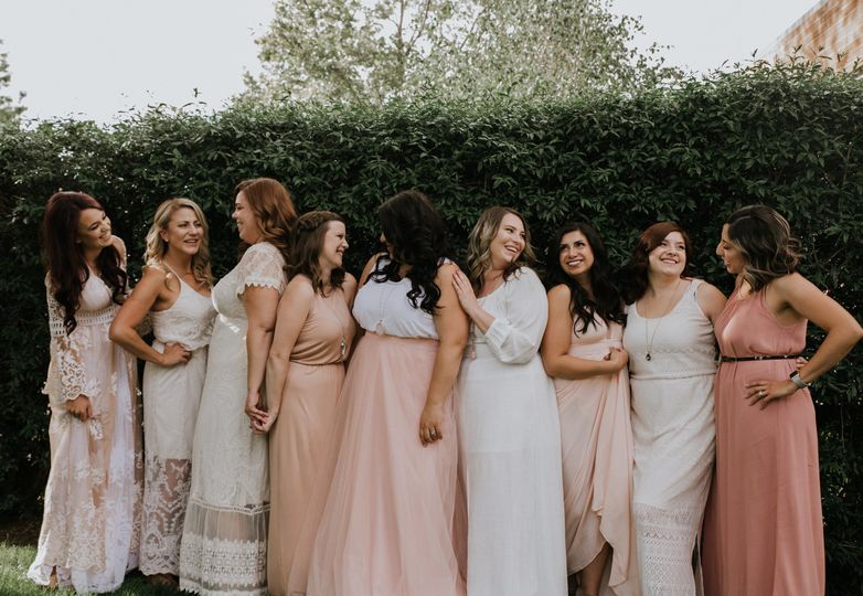 Candid moments between bridal party