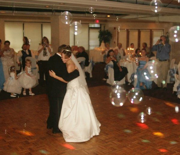 Wedding reception at 7 Springs Country Club in New Port Richey Florida. Let the bubbles fly.