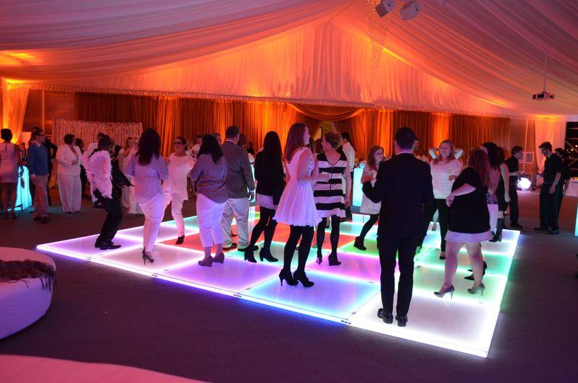 Illuminated dance floor