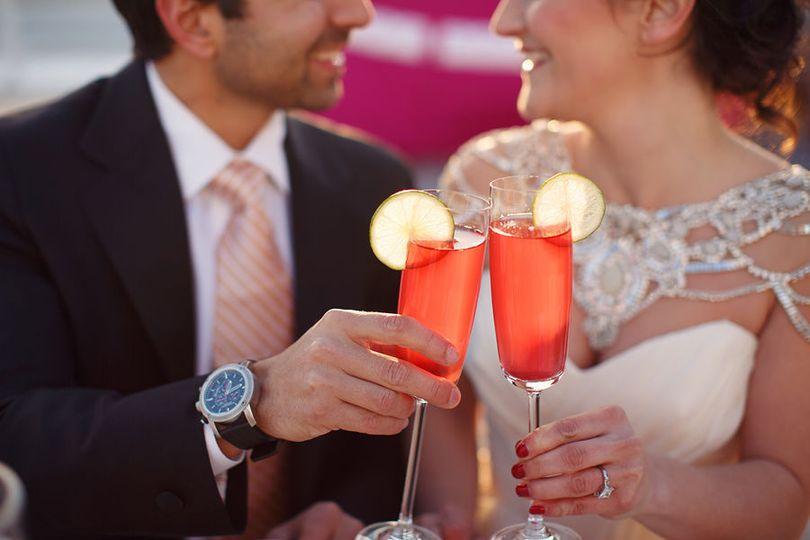 Couple's toast