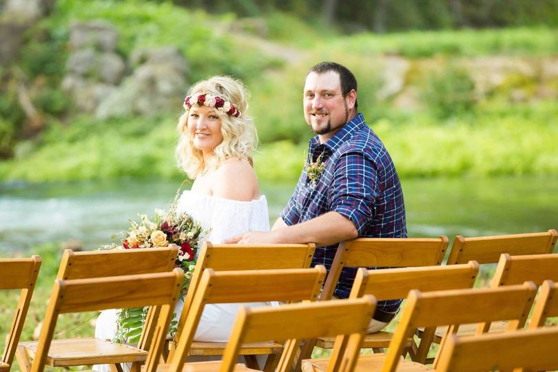 Beautiful park wedding lakeside
