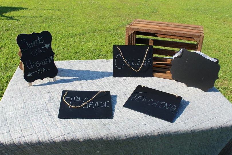 Chalkboard signs 5 available.
