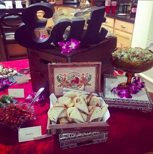 We use cigar boxes and old candy dishes for decor...So cute!