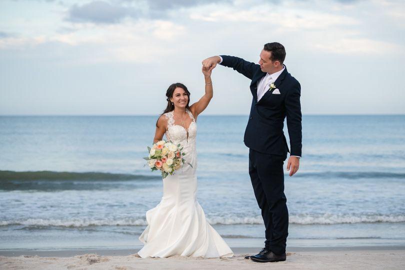 Private beach wedding
