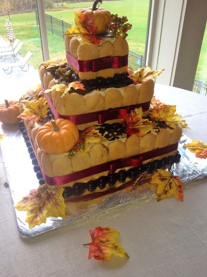 3-tier pumpkin cake