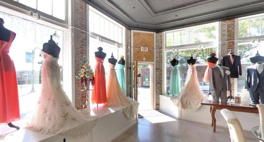 Dresses in windows