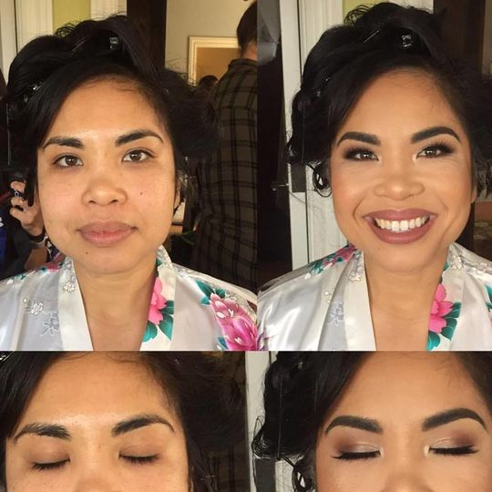 Wedding Makeup with Airbrush & Mink Lashes