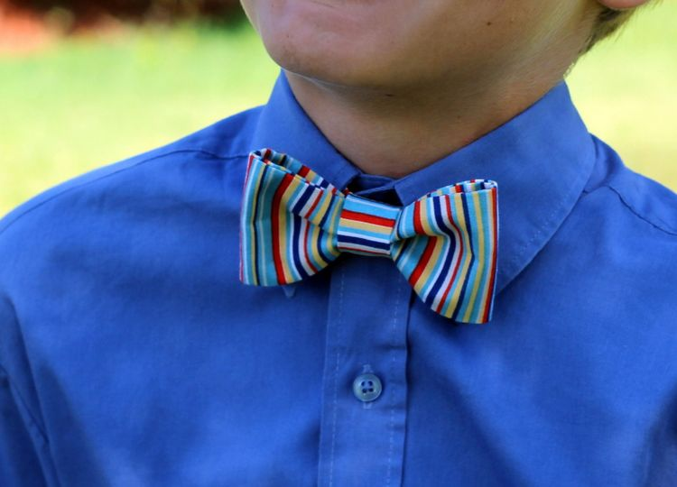 Because I'm Me striped bowtie