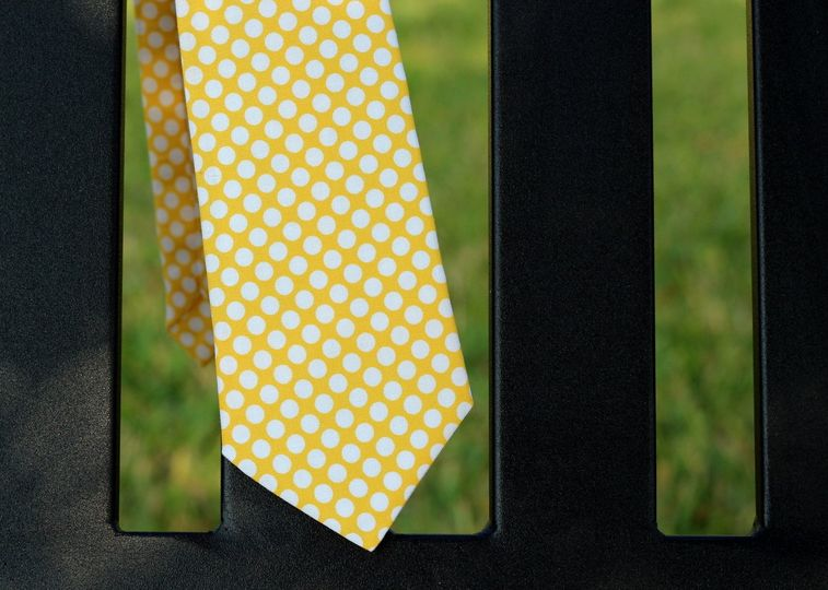Because I'm Me Yellow Dot Necktie for Boys or Men