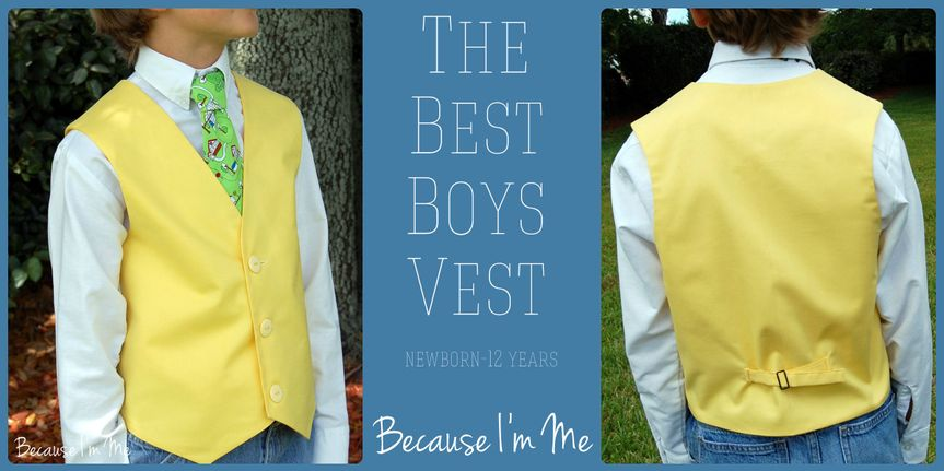 Because I'm Me The Best Boys Vest