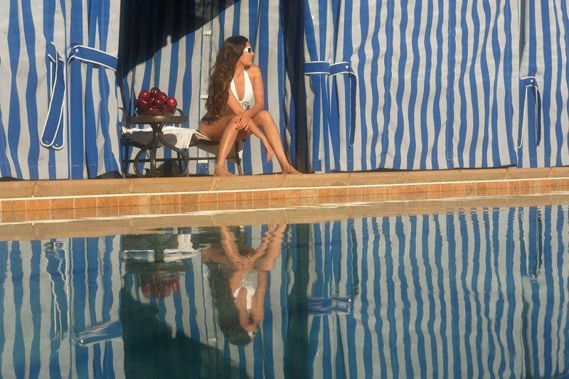 Poolside sun