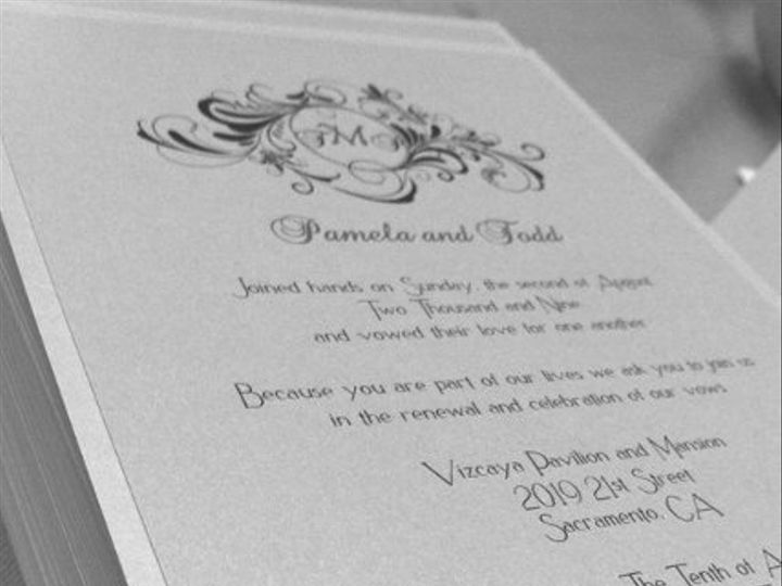 Tmx 1332174767091 Pamelaandtodd Elk Grove wedding invitation