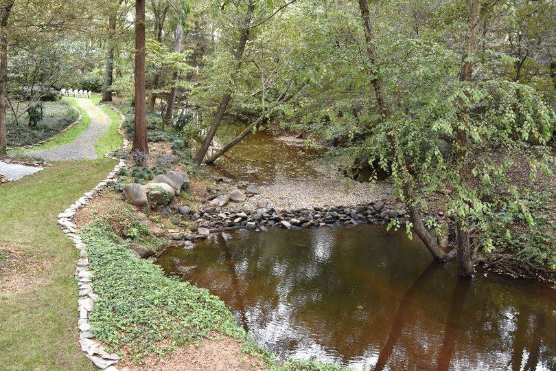 The creek at Tipsy Goat Estate