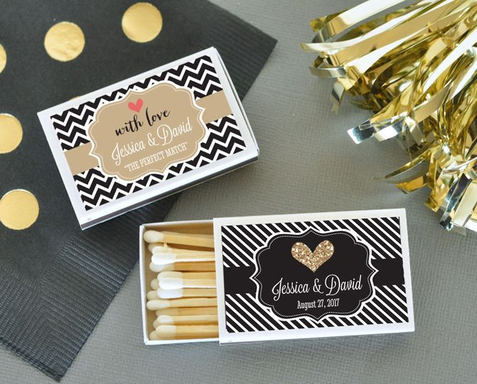 Personalized Wedding Matches http://www.littlethingsfavors.com/wemana.html