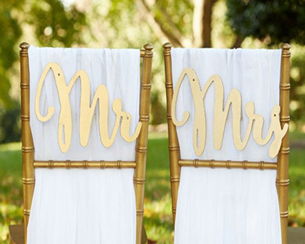 Tmx 1421861792550 Gold Promises Classic Mr And Mrs Chair Backers 3.g Sayreville wedding favor