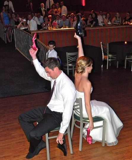 """Always a great time when the Bride and Groom play the """"shoe game""""."""