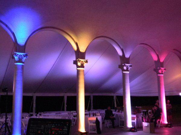 Example of outdoor up lighting
