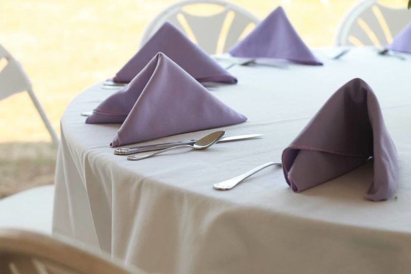 Folded Linen Napkins