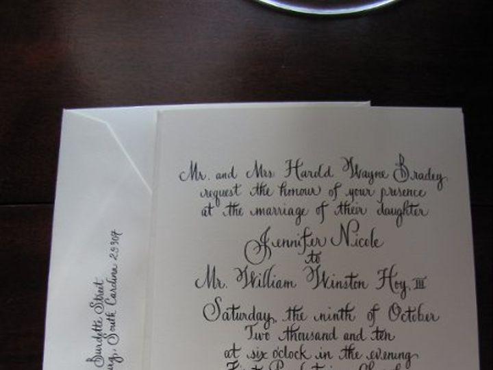 Tmx 1291085612925 Calligraphy001 Pawleys Island, SC wedding invitation