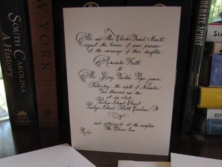 Tmx 1291085627832 Calligraphy011 Pawleys Island, SC wedding invitation